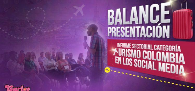 Balance presentación Informe Sectorial categoría Turismo Colombia en los Social Media