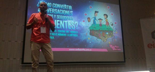 Balance presencia Carlos Cortés en el CyberForum en Bucaramanga