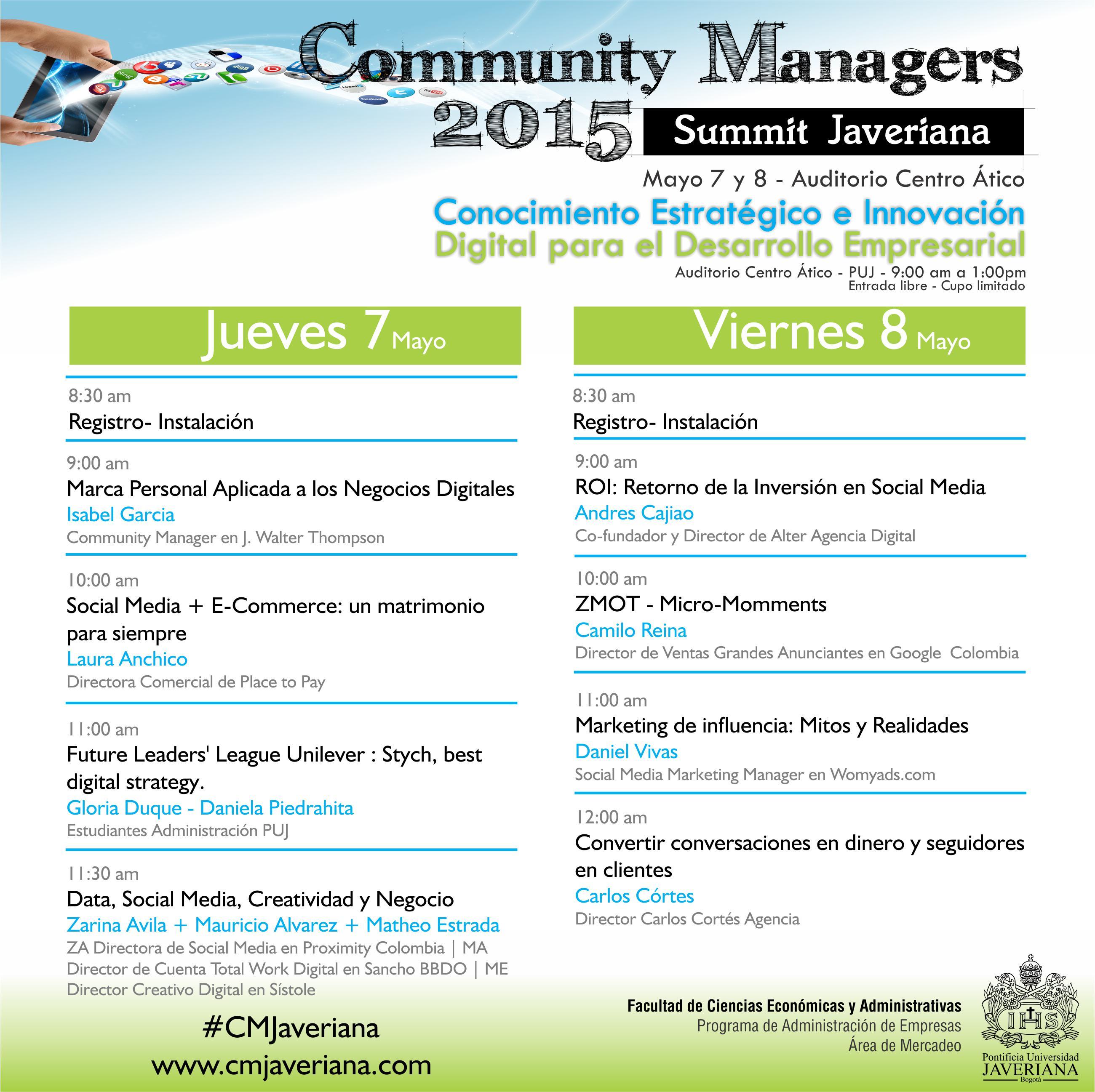 agenda-carlos-cortes-en-el-community-managers-summit-javeriana-2015