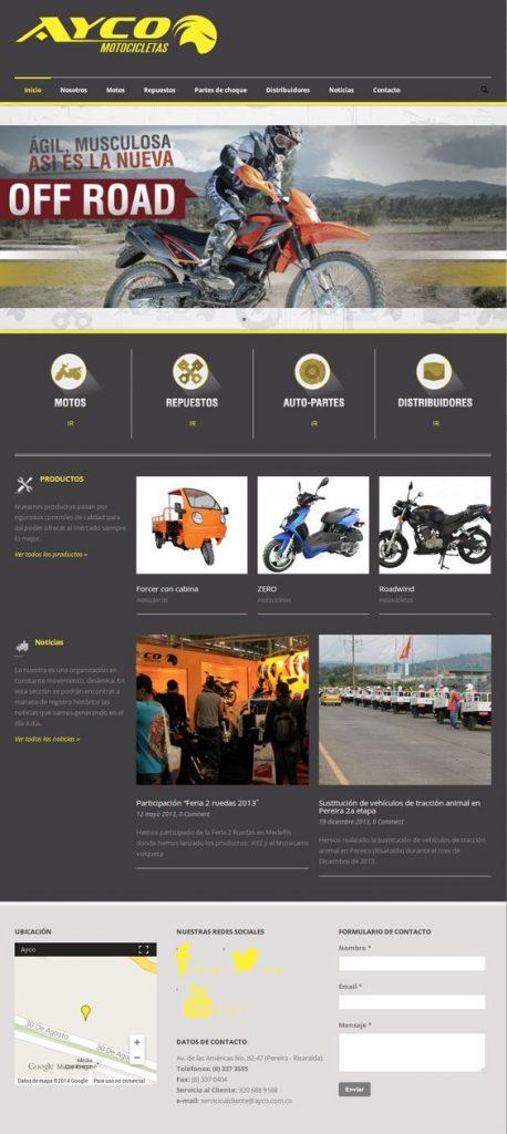 diseño de páginas web pereira ayco