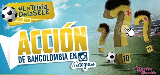 Acción de Bancolombia en Instagram