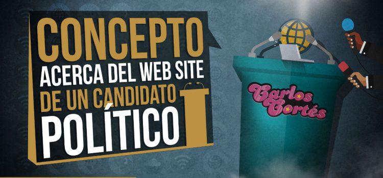 Concepto acerca del web site de un candidato político