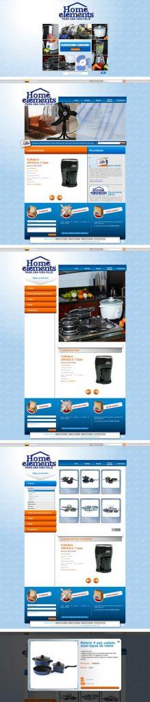 home elements diseño de páginas web pereira