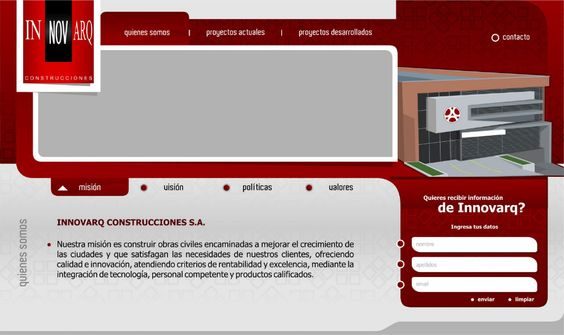 innovarq diseño de páginas web pereira