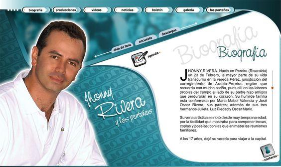 jhonny rivera diseño de páginas web pereira