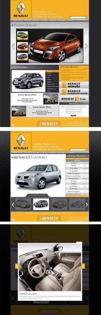 diseño de páginas web pereira renault