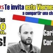 Carlos Cortés en Hangout con estudiantes de System Plus (Tuluá)