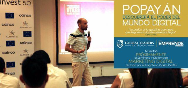 Carlos Cortés dando seminario y diplomado en Popayán