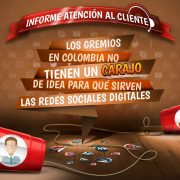 Informe de atención al cliente Social Media, Gremios Colombianos