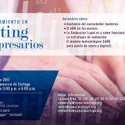 Carlos Cortés con Taller de Marketing para Empresarios (Cámara de Comercio de Cartago)
