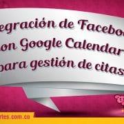 Integración de Facebook con Google Calendar para gestión de citas