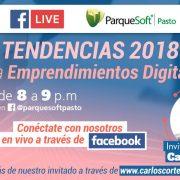 Tendencias (oportunidades) 2018 para emprendimientos digitales con Parquesoft Pasto