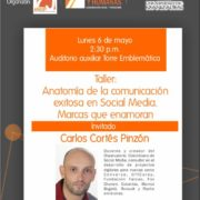 Carlos Cortés en la Jornada de Comunicación Organizacional en la U de Manizales