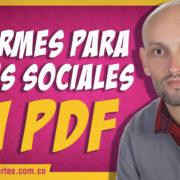 Informe para redes sociales | ¿cómo exportar en PDF?