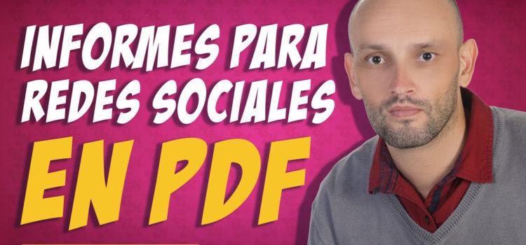 Informe para redes sociales   ¿cómo exportar en PDF?