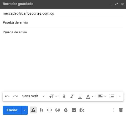 Envio emails desde Gmail corporativo