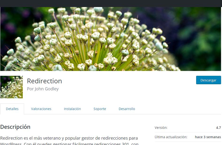 Redirection plugin wordpress john godley